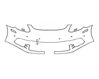 2018 PORSCHE PANAMERA BASE Bumper With sensors ( 1 Piece)