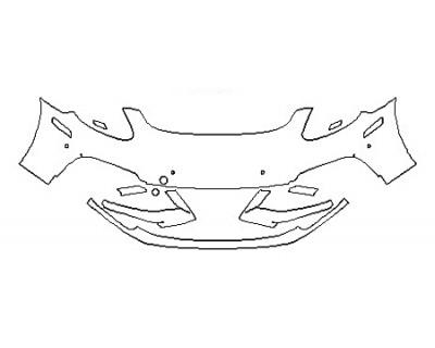 2018 PORSCHE PANAMERA TURBO EXECUTIVE Bumper With SenSors
