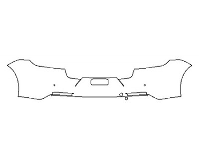 2018 PORSCHE PANAMERA TURBO EXECUTIVE Full Rear Bumper With Sensors