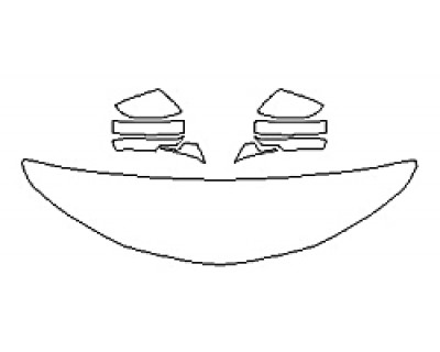 2019 ACURA TLX A-SPEC Hood(18 InchWrapped Edges) Mirrors