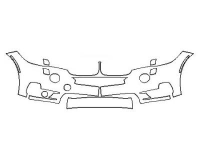 2018 BMW X5 SDRIVE35I LUXURY DESIGN Bumper With washers ( 2 Piece)