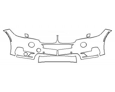 2018 BMW X5 SDRIVE35I LUXURY DESIGN Bumper With Senscors ( 2 Piece)
