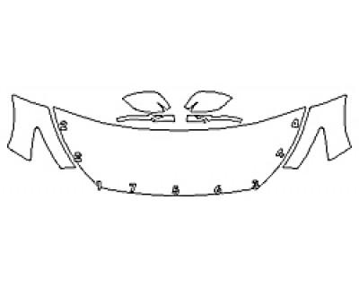 2018 INFINITI Q50 2.0T PURE Hood(24 Inch) Fenders Mirrors