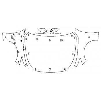 2020 INFINITI Q50 3.0T LUXE Full Hood Fenders Mirrors