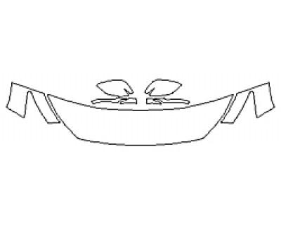 2020 INFINITI Q50 3.0T SPORT Hood(18 Inch) Fenders Mirrors