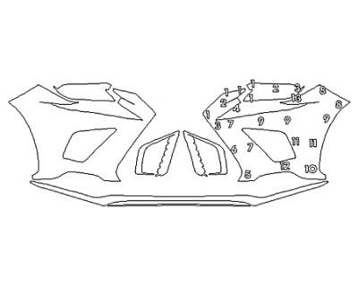 2019 LEXUS NX 300 F-SPORT Bumper