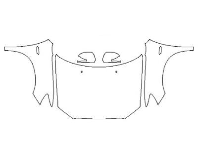 2018 MITSUBISHI OUTLANDER SPORT SEL Full Hood Fenders Mirrors