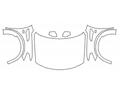 2020 NISSAN ARMADA PLATINUM RESERVE Full Hood Fenders Mirrors