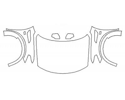 2020 NISSAN ARMADA PLATINUM RESERVE Full Hood(Wrapped) Fenders Mirrors