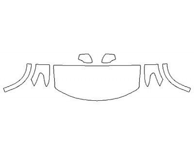2020 NISSAN ARMADA PLATINUM RESERVE Hood(30 InchWrapped Edges) Fenders Mirrors