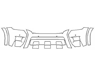 2020 NISSAN ARMADA PLATINUM RESERVE Bumper With Sensors