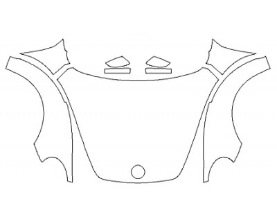 2020 VOLKSWAGEN BEETLE 2.0T S Full Hood Fenders Mirrors