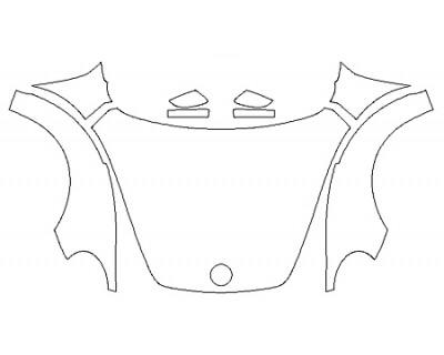 2020 VOLKSWAGEN BEETLE 2.0T SE Full Hood Fenders Mirrors