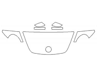 2018 VOLKSWAGEN BEETLE 2.0T SEL Hood(24 InchWrapped Edges) Fenders Mirrors