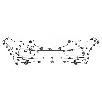 2018 VOLVO XC60 INSCRIPTION HYBRID Bumper