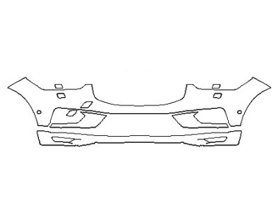 2018 VOLVO XC60 MOMENTUM HYBRID Bumper With Washers And Sensors
