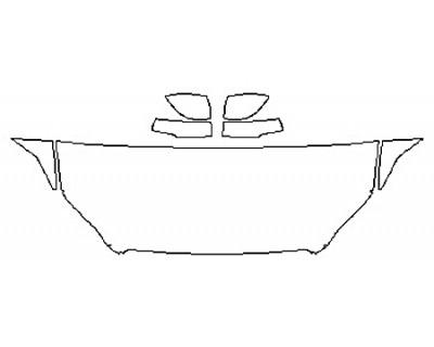 2018 VOLVO XC60 R-DESIGN HYBRID Hood(24 InchWrapped Edges) Fenders Mirrors