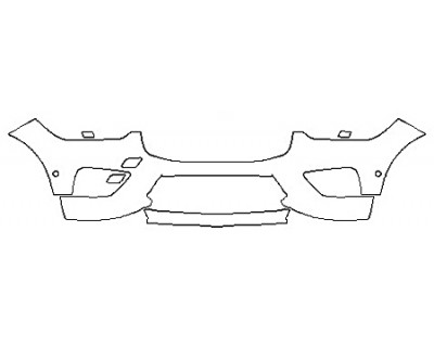 2018 VOLVO XC60 R-DESIGN HYBRID Bumper With Sensors