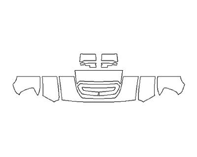2019 GMC SIERRA 2500HD BASE DURAMAX Hood(18 Inch) Fenders Mirrors
