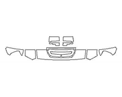 2019 GMC SIERRA 2500HD BASE DURAMAX Hood(12 Inch) Fenders Mirrors