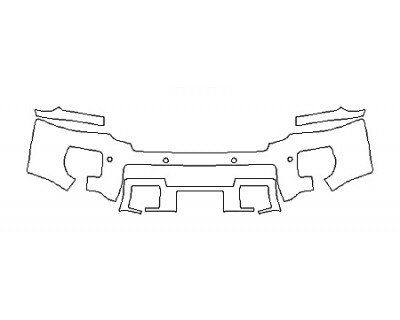 2018 GMC SIERRA 2500HD SLE Bumper With Sensors