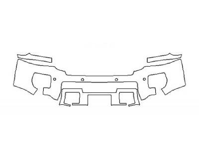 2018 GMC SIERRA 2500HD SLT Bumper With Sensors