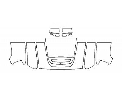 2018 GMC SIERRA 2500HD SLT DURAMAX Hood(30 Inch Wrapped Edges) Fenders Mirrors