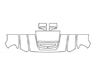 2018 GMC SIERRA 2500HD SLT DURAMAX Hood(24 Inch Wrapped Edges) Fenders Mirrors