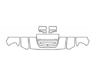 2018 GMC SIERRA 2500HD SLT DURAMAX Hood(18 Inch Wrapped Edges) Fenders Mirrors