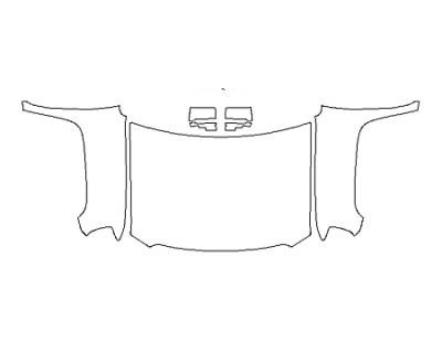 2019 GMC SIERRA 3500HD BASE Full Hood(Wrapped Edges) Fenders Mirrors