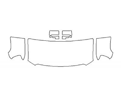 2019 GMC SIERRA 3500HD BASE Hood(30 Inch Wrapped Edges) Fenders Mirrors