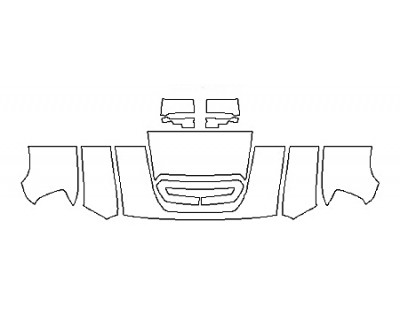 2018 GMC SIERRA 3500HD DENALI DURAMAX Hood(24 Inch) Fenders Mirrors
