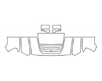 2019 GMC SIERRA 3500HD SLT DURAMAX Hood(24 Inch) Fenders Mirrors
