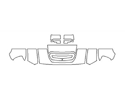 2019 GMC SIERRA 3500HD SLT DURAMAX Hood(18 Inch) Fenders Mirrors