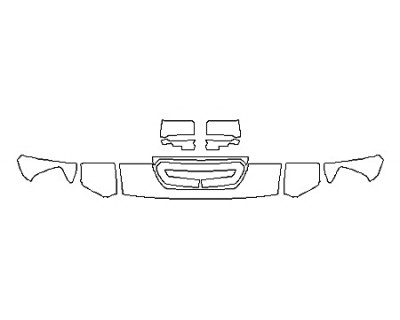 2019 GMC SIERRA 3500HD SLT DURAMAX Hood(12 Inch Wrapped Edges) Fenders Mirrors