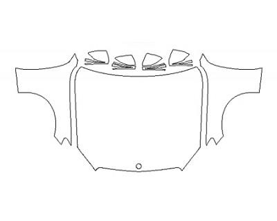 2018 MERCEDES C-CLASS CABRIOLET C300 4MATIC SPORT Full Hood Fenders Mirrors
