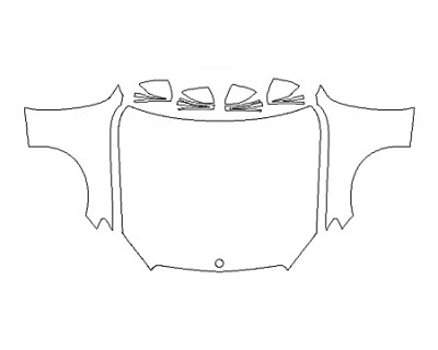 2018 MERCEDES C-CLASS CABRIOLET C300 SPORT Full Hood Fenders Mirrors