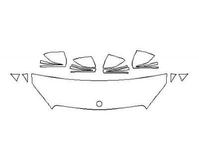 2018 MERCEDES C-CLASS CABRIOLET C300 SPORT Hood(18 Inch) Fenders Mirrors