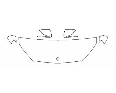 2018 MERCEDES GLC-CLASS COUPE GLC43 AMG Hood(24 Inch) Fenders Mirrors