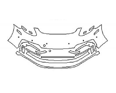 2018 PORSCHE PANAMERA TURBO SPORT TURISMO Bumper With Sensors