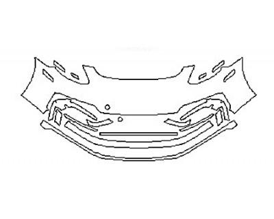 2018 PORSCHE PANAMERA TURBO SPORT TURISMO Bumper (Wrapped Edges)