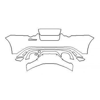 2020 JAGUAR F-TYPE SVR FullRear Bumper (Without svr Badge)