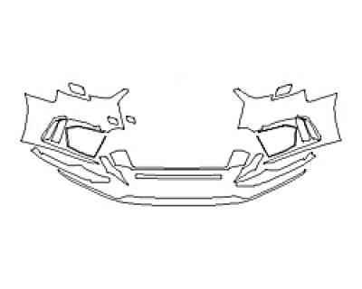 2018 AUDI RS 3 SEDAN Bumper