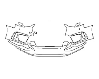 2018 AUDI RS 3 SEDAN Bumper With Sensors
