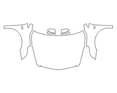 2018 CADILLAC XTS PLATINUM Full Hood(Wrapped Edges) Fenders Mirrors