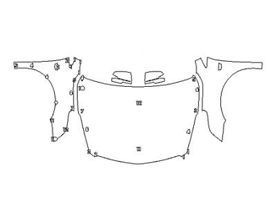 2018 CADILLAC XTS V-SPORT PLATINUM Full Hood Fenders Mirrors