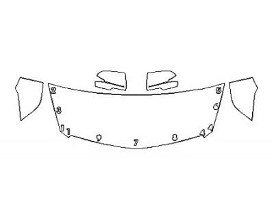 2018 CADILLAC XTS V-SPORT PLATINUM Hood(24 Inch) Fenders Mirrors