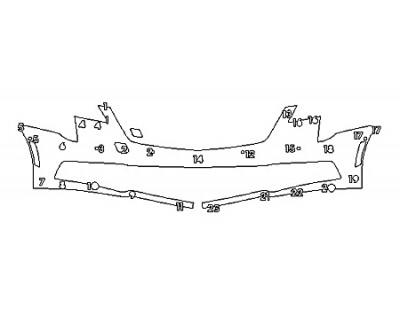 2018 CADILLAC XTS V-SPORT PLATINUM Bumper With Sensors