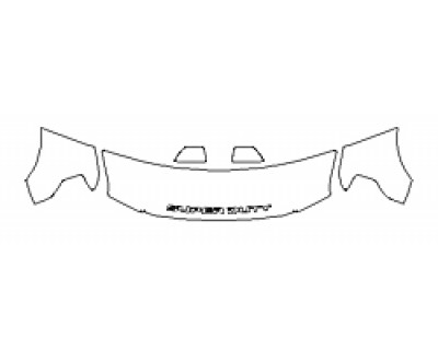 2018 FORD F-250 SUPER DUTY LIMITED Hood(24 Inch Wrapped Edges) Fenders Mirrors