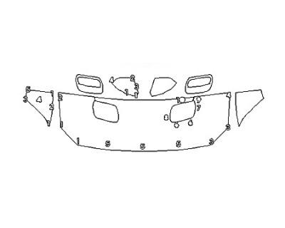 2020 FORD MUSTANG GT PREMIUM Hood(24 Inch) Fenders Mirrors